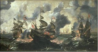 Battle between Dutch ships and Turkish galleys