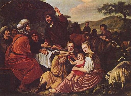 모세의 가족 이드로와 이별 장면