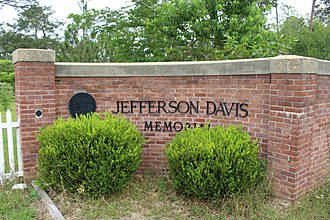 Jefferson Davis Memorial Historic Site - Image: Jefferson Davis Memorial entrance gate
