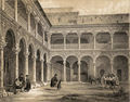 Jenaro Pérez Villaamil (España artística y monumental, 1850) Palacio Arzobispal de Alcalá de Henares, patio de Fonseca.png