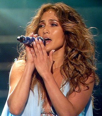 Lopez performing during her Dance Again World Tour in Paris, France, October 2012. Jennifer Lopez 12, 2012.jpg