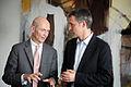 Jens Stoltenberg, statsminister Norge samtalar med Pascal Lamy direktor WTO pa Nordiskt globaliseringsforum 2010.jpg