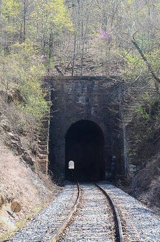National Register of Historic Places listings in Le Flore County, Oklahoma - Image: Jenson Tunnel, North Entrance