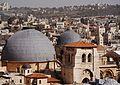 Jerusalem Blick von der Davidszitadelle auf die Grabeskirche 2.JPG