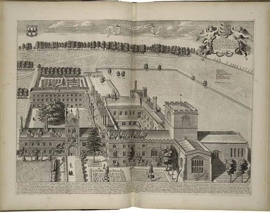 Jesus College, Cambridge by Loggan 1690 - Folger 046539W5