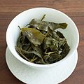 Jin Xuan oolong tea after steeping.jpg
