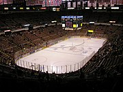 Joe Louis Arena is home to the Detroit Red Wings hockey team.