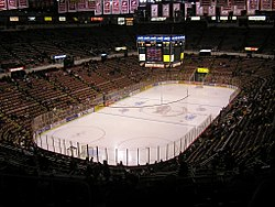 Photo de l'intérieur du Joe Louis Arena.