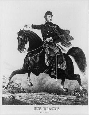 """Joseph Hooker - """"Fighting"""" Joe Hooker in an 1863 engraving"""