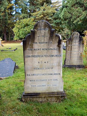 John Rawlinson (footballer and MP) - Rawlinson's grave in Brookwood Cemetery
