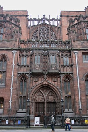 Basil Champneys - John Rylands Library (1900) in Manchester – Grade-I listed and considered Champneys' magnum opus.
