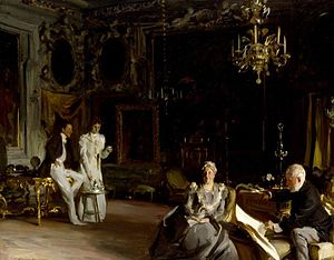 Daniel Sargent Curtis - John Singer Sargent's portrait of the Curtis family at the Palazzo Barbaro, 1899