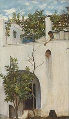 Lady on a Balcony, Capri