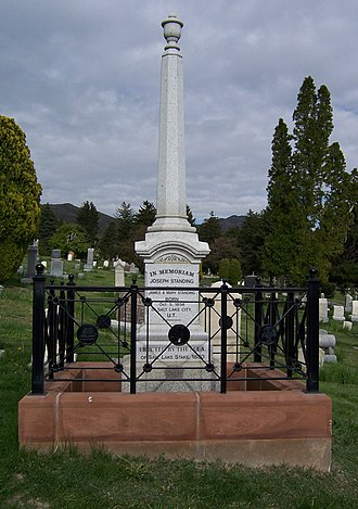 Joseph Standing - Image: Joseph Standing Grave West