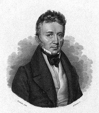 Joseph Johann von Littrow - Portrait of Joseph Johann von Littrow (1781–1840) from his 1836 book Physische Astronomie (Physical Astronomy).