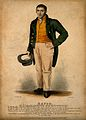 Josiah Eaton, a long distance walker. Coloured stipple engra Wellcome V0007072.jpg