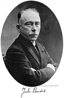 Jules Bordet Belgian immunologist and microbiologist, Nobel prize in medicine 1919