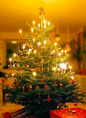 Jul (Denmark) - A Danish Christmas tree (Juletræet).
