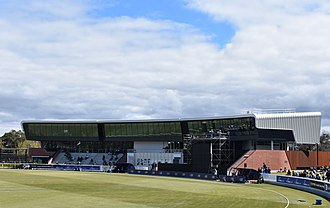 Junction Oval - The new grandstand constructed in the redevelopment, also the headquarters of Cricket Victoria.
