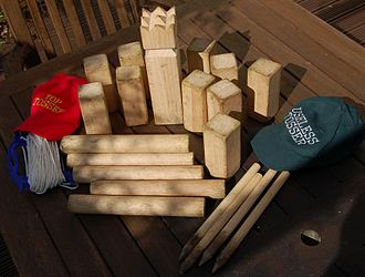 Kubb - A typical set