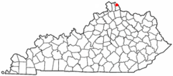 Location of Silver Grove, Kentucky