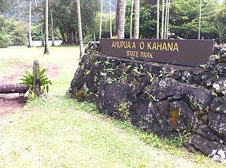 Ahupua'a O Kahana State Park - Entrance to Kahana Valley