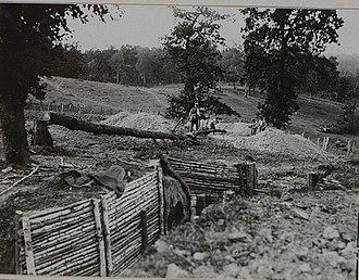 10th Landwehr Division (German Empire) - Image: Kaiserschanze Festungsanlagen, Zweite Stellung des Landwehrinfanteriere gimentes 24 bei Szelwow
