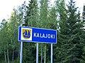 Kalajoki municipal border sign 2018.jpg
