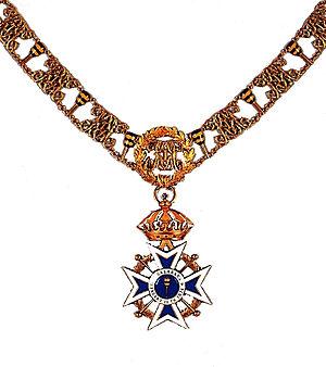 Royal Order of Kalākaua - Image: Kalakaua knightsgrandcrosscol larwithcollar