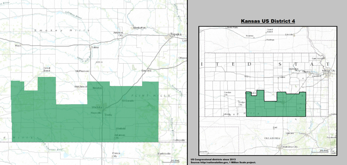 Kansass Th Congressional District Wikipedia - Kansas us map