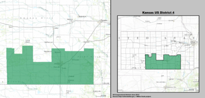 Kansas's 4th congressional district - since January 3, 2013.
