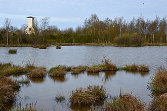 Osmussaar - Kappelkärre Lake and chapel ruins.