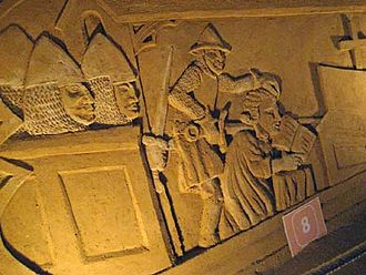 Charles I, Count of Flanders - Relief of the murder of Count Charles the Good, in 1127.