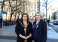 Karen Bradley met Lord Mayor Deirdre Hargey, Belfast City Council and traders affected by the fire at Bank Buildings following the recent announcement of £2m funding for the recovery and regeneration of Belfast (44931491425).png