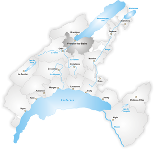 Map of yverdon district the full wiki for Location a yverdon