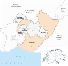 Mapo de Laŭzano