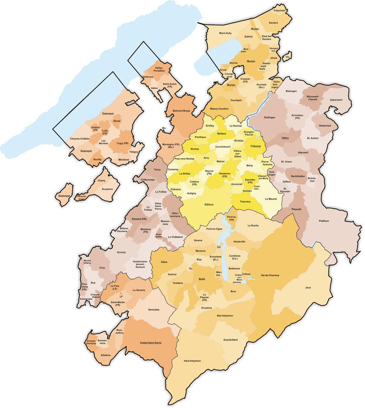 Communes du canton de fribourg wikip dia for Zone commune