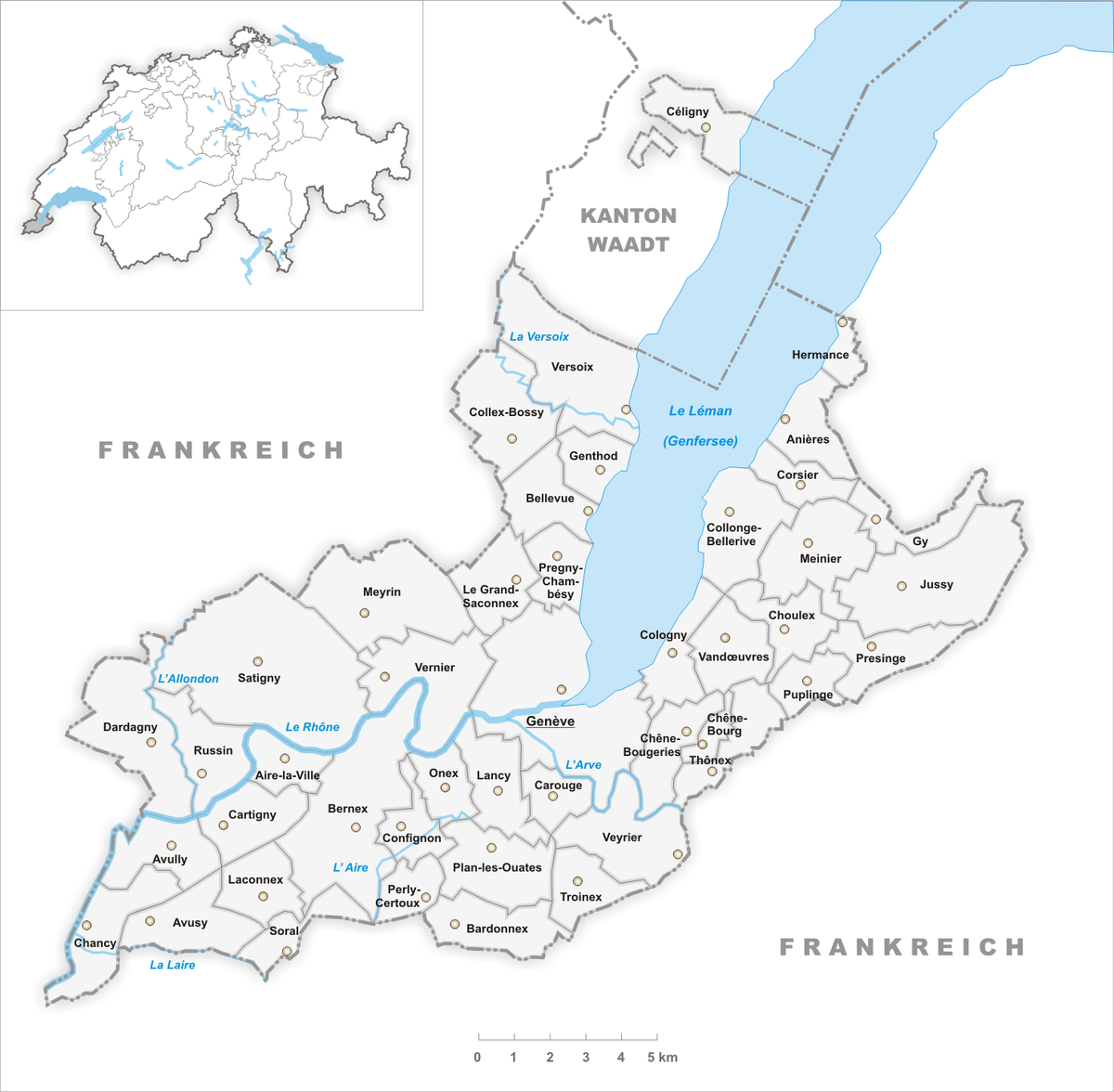 Municipalities of the canton of Geneva Wikipedia