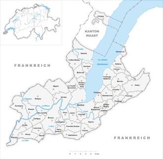 Municipalities of the canton of Geneva - Municipalities in the canton of Geneva