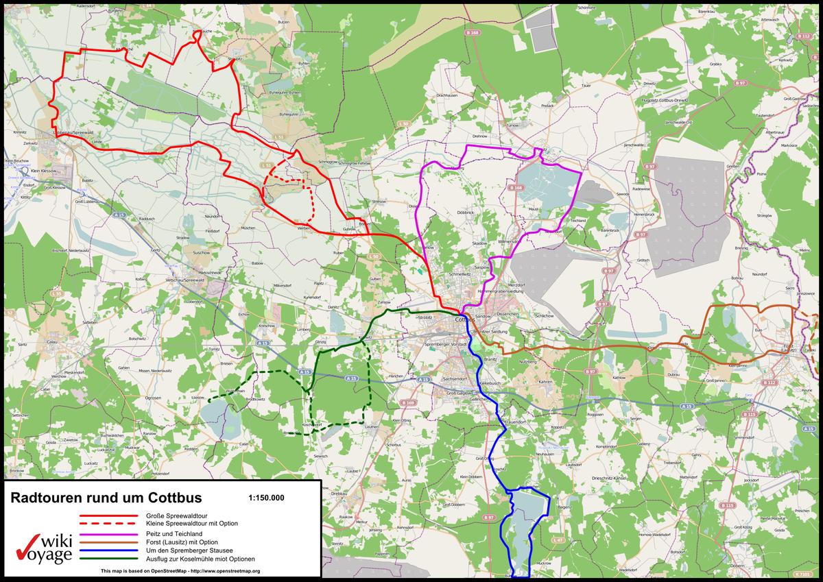 1200px Karte Radtouren rund um Cottbus