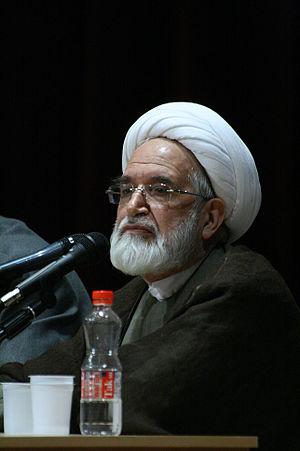 Mehdi Karrubi lecturing in Zanjan university