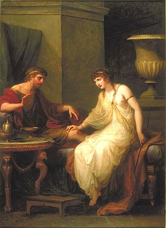 Circe - Angelica Kauffman's painting of Circe enticing Odysseus (1786)