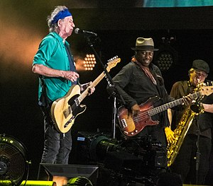 Darryl Jones - Keith Richards and Jones performing onstage with the Rolling Stones, July 6, 2013
