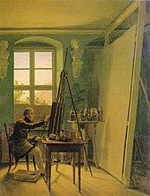 Der Maler Matthäi im Atelier (Gemälde von Georg Friedrich Kersting 1812) (Quelle: Wikimedia)