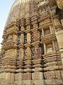Khajuraho India, Chaturbhuj Temple, Outer Wall. Photographed 10-March-2012.JPG