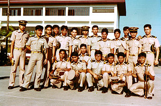 Khaki - Khaki is a common color in military uniforms, as on these students from the Philippines Merchant Marine Academy.