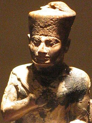 Khufu Statuette - Close up of Khufu's portrait