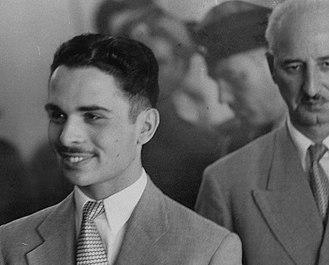 Suleiman Nabulsi - King Hussein with PM Suleiman Nabulsi