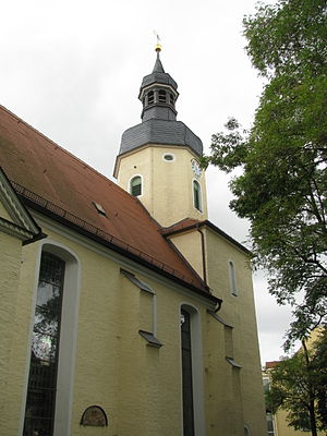 Liebertwolkwitz - The church tower was rebuilt in 1702 which left it taller and more ornate.