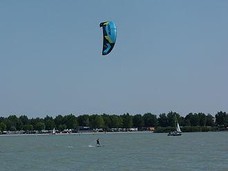Kiteboarding - Kitesurfer at Podersdorf, Austria - 2013